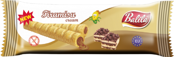 Balila Gluten Free Corn Tube - Tiramisu Cream (box of 8)